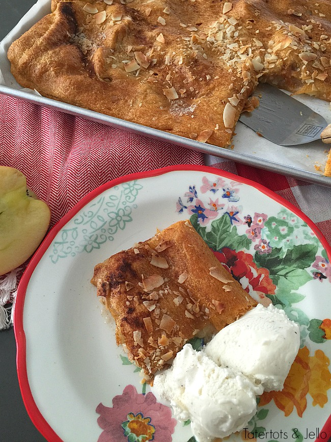 apple coconut slab croissant tart recipe