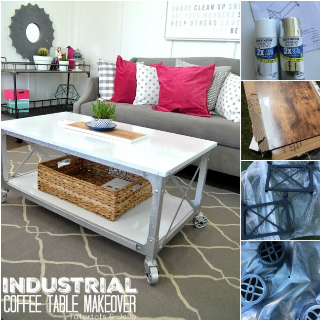 industrial farmhouse painted coffee table how to