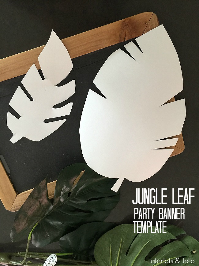 picture relating to Jungle Leaf Template Printable called Jungle Leaf Social gathering Garland and absolutely free leaf templates jungle occasion