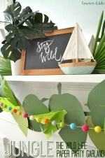 Jungle Leaf Party Garland and free template