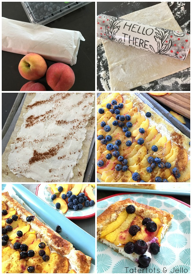 peach and berry cream tart