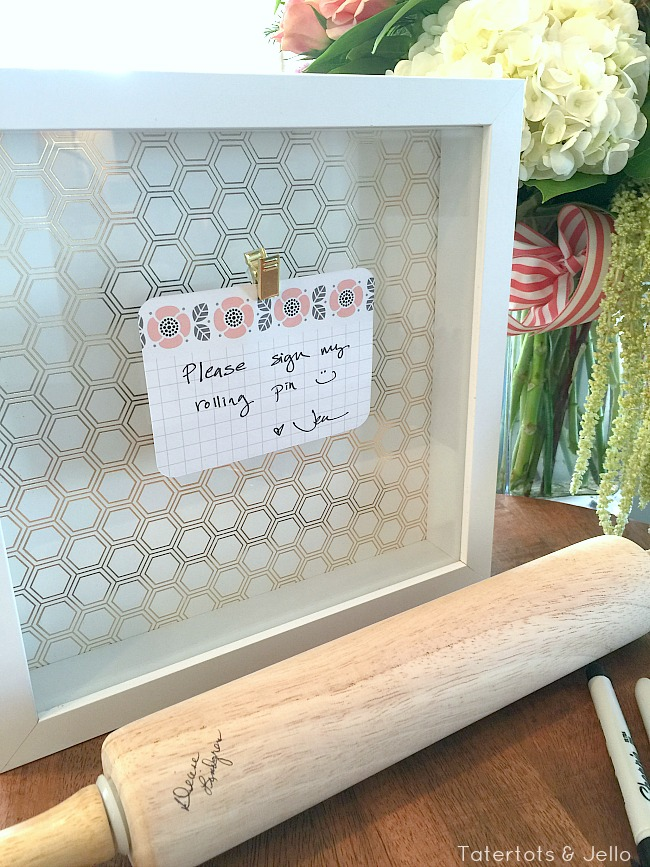 rolling pin housewarming gift idea
