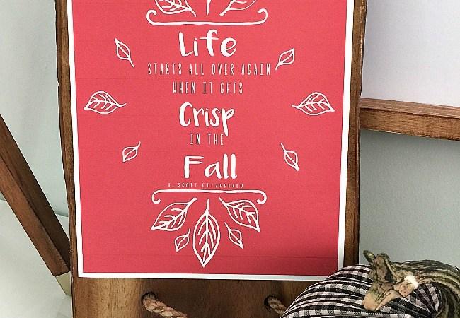 Free Autumn Great Gatsby Fall Free Printable