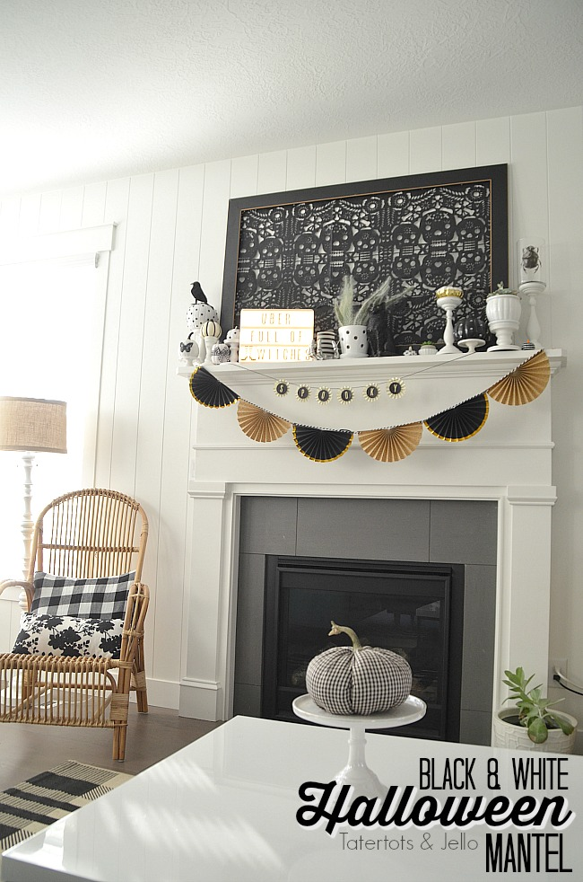 black and white neutral halloween decorating halloween doesnt have to be orange and