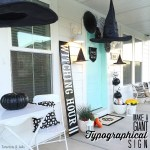 Make a Giant Halloween Typographical Sign!
