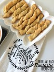 Quick and Easy Fantastic Breadsticks!! These are seriously the easiest breadsticks to make. They take about half an hour to make, so they are perfect to pop in the oven as I make dinner. They cook while I make the main dish. And they smell and taste FANTASTIC.