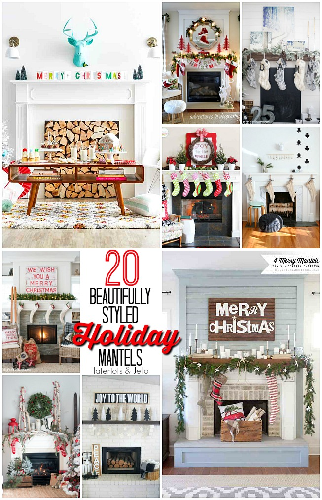 Whether you have a mantel, a table or a shelf, you can bring the spirit of the holidays into your home through a thoughtful and beautifully styled mantel. Find 20 Holiday mantel ideas and get inspired!!
