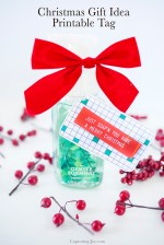 Free Christmas Printable Gift Tags and Soap Gift Idea!