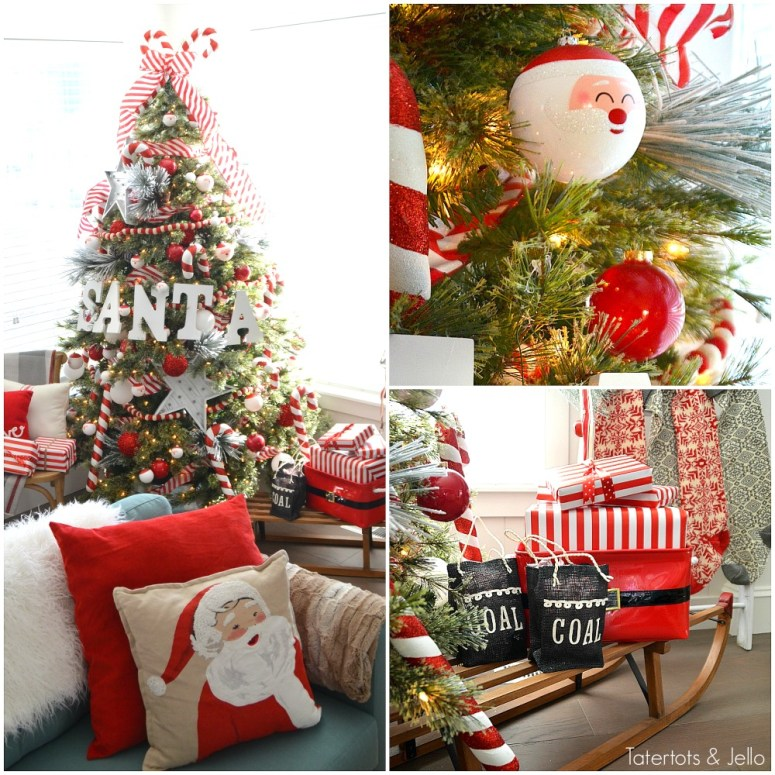 Santa North pole christmas tree and decorating ideas