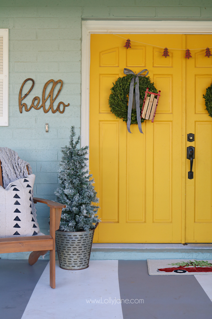 Fresh And Beautiful Holiday Sled Wreath Dollar Section