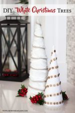 DIY White Farmhouse Christmas Trees