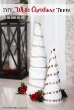 DIY White Farmhouse Christmas Trees