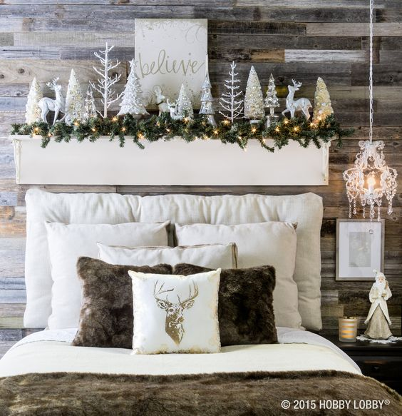 Faux Rustic Mantel Idea. Gorgeous christmas mantels plus over 100 other ways to make the holidays amazing at your home this year!