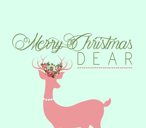 Merry Christmas Dear Free Holiday Printable!