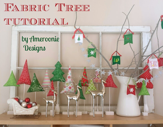 Fabric Christmas Tree Tutorial