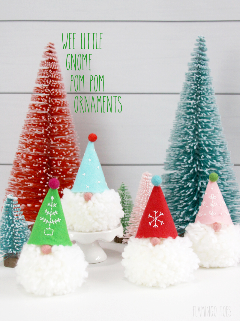 Wee Little Gnome Pom Pom Ornaments!