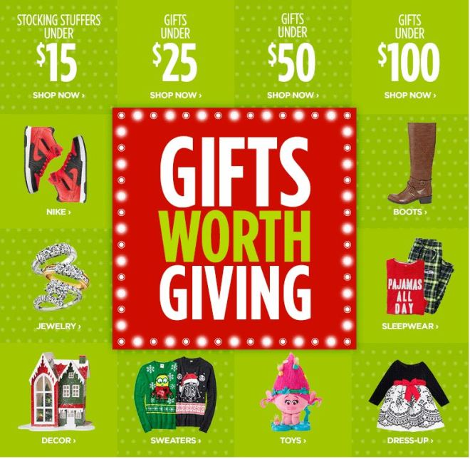 gifts worth giving gift guide by price JCPenney