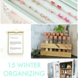 Great Ideas —  15 Winter Organizing Ideas!
