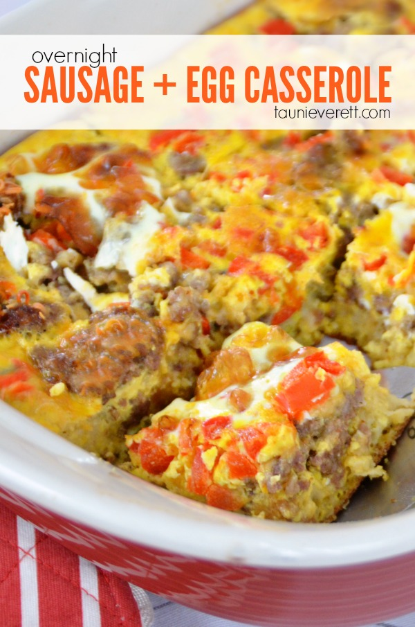 galantine's overnight sausage egg casserole recipe