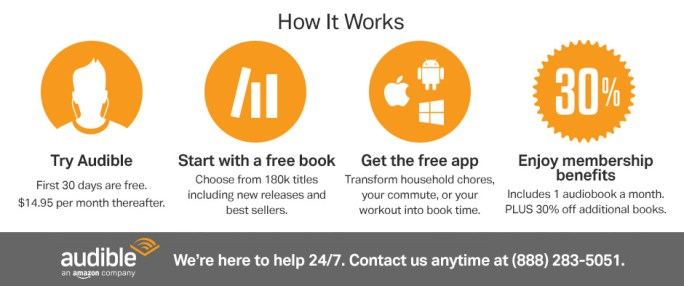 how audible works. Audiobooks