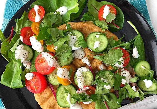 Savory Falafel Waffles