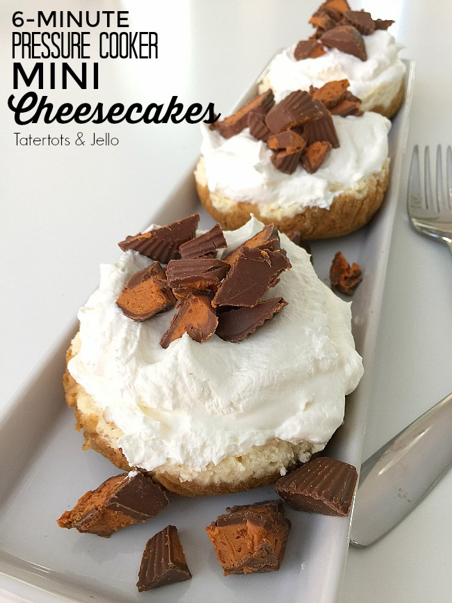6-Minute Pressure Cooker Mini Cheesecakes