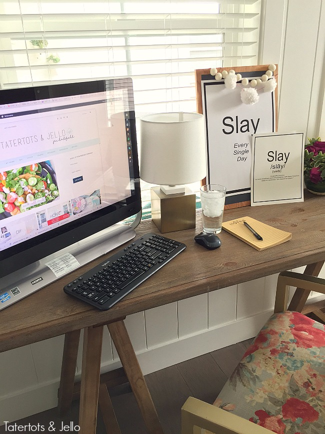 Slay word definition printables. Get motivated and slay your goals this year.