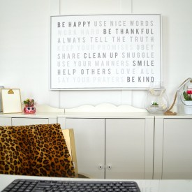 Be Happy Family Rules Sign and using what you love!