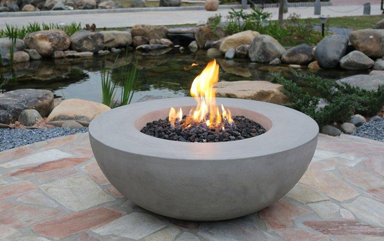 round fire pit idea