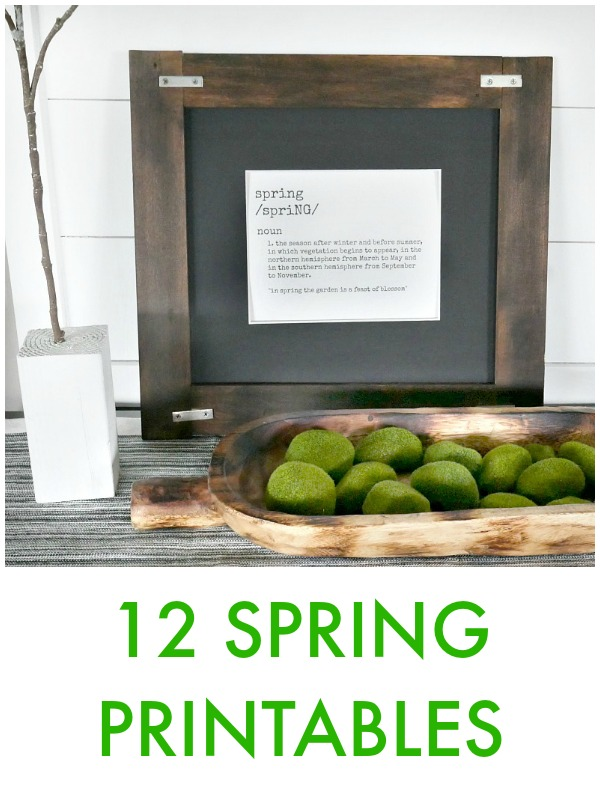 Great Ideas -- 12 Spring Printables!