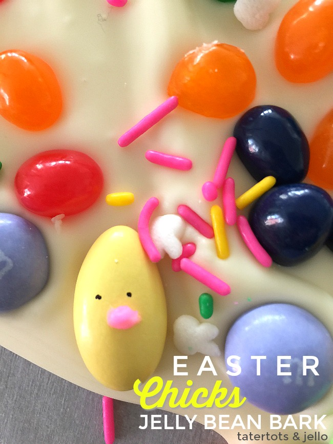 Easter Chick Jelly Bean Bark