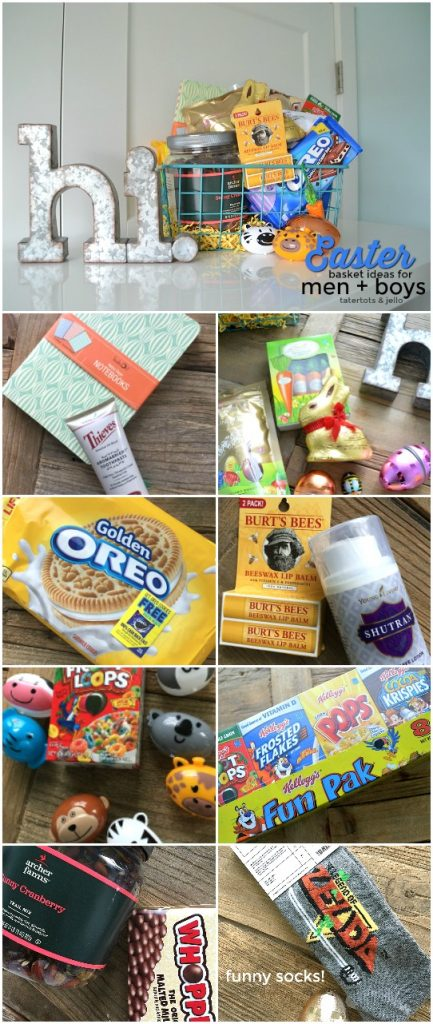 Easter Basket Filler Ideas for Boys and Men. Inexpensive and thoughtful gift ideas.