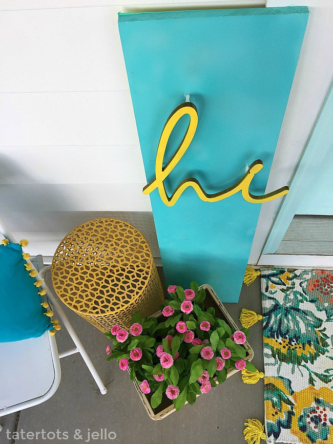 Colorful happy home sign/ Make a bright and happy 3-dimensional sign for YOUR home.
