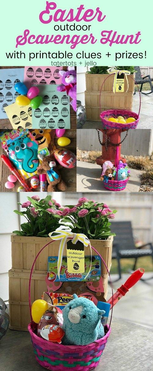 Outdoor Scavenger Hunt Game with Free Printables! And 1 month of kids crafts you can make at home and in your backyard.