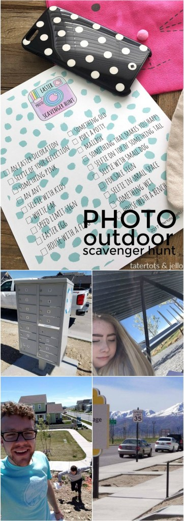 teen tween photo outdoor scavenger hunt game and free printable checklist