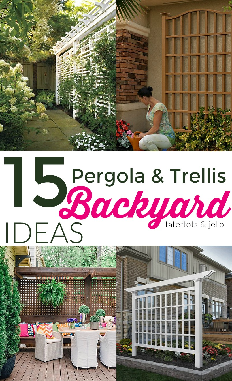 Trellis ideas for privacy - 15 Outdoor Privacy Screen And Pergola Ideas