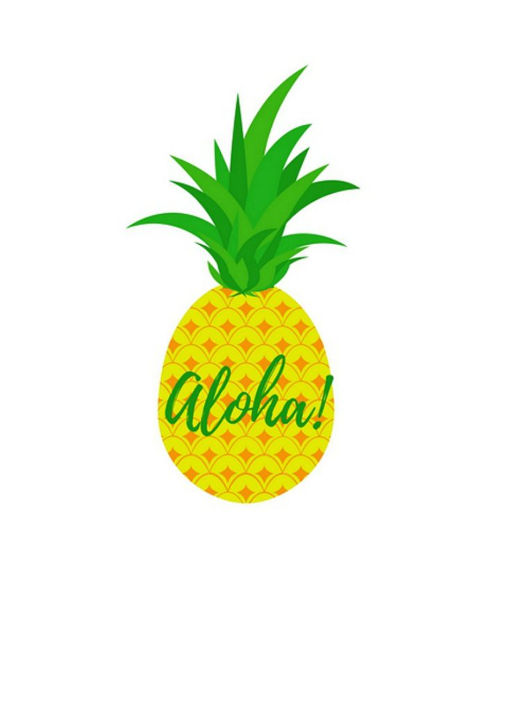This is an image of Pineapple Printable throughout blank