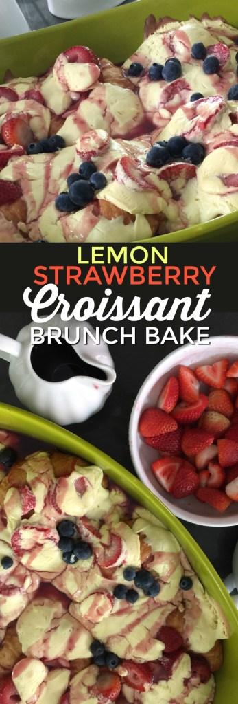 Lemon Strawberry Croissant Brunch Bake