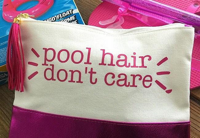 Pool Hair Don't Care Teen Tween Pool Bag Tutorial