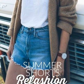 Summer Shorts Refashion from Thrifted Mens Jeans
