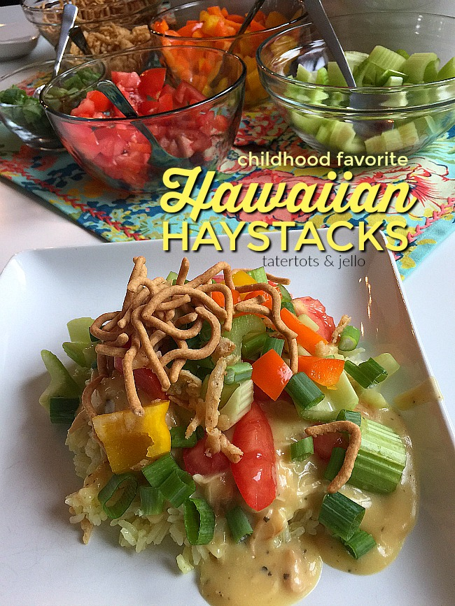 Hawaiian Haystacks are a family tradition. Rice covered with a creamy chicken gravy and piled high with crunchy, flavorful toppings. This dish will be a family favorite at YOUR house too!