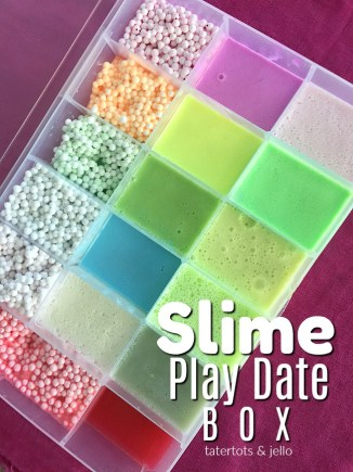 Make a slime play box. Take your slime on the road and show it off and trade with your friends!