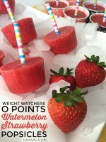 Weight Watchers Zero Points Watermelon Strawberry Popsicles