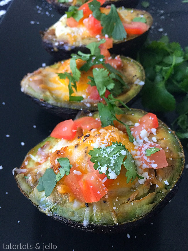 Low Carb Baked Avocado Egg Breakfast Cups