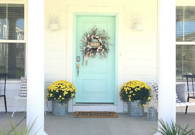 Farmhouse Fall Wreath with Paper Leaves