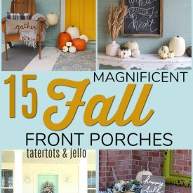 15 magnificent fall front porches. Make YOUR front door SHINE with these festive fall ideas!