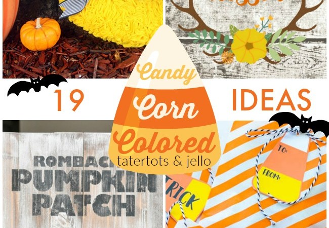 Great Ideas — 19 Candy Corn Colored Ideas!