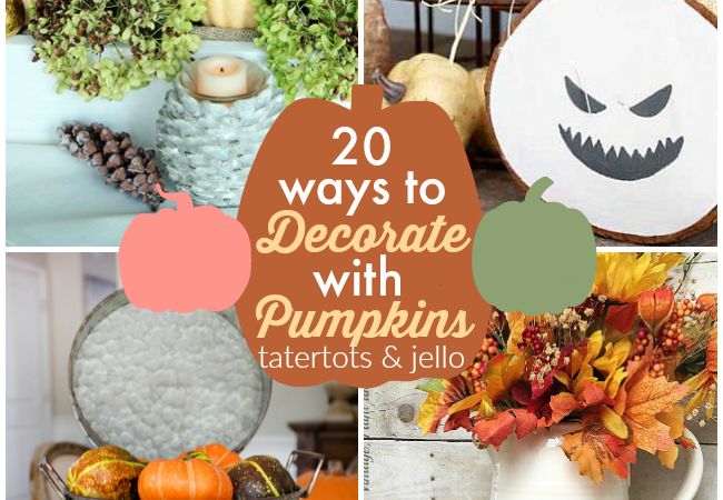 Great Ideas — 20 Ways to Decorate with Pumpkins!