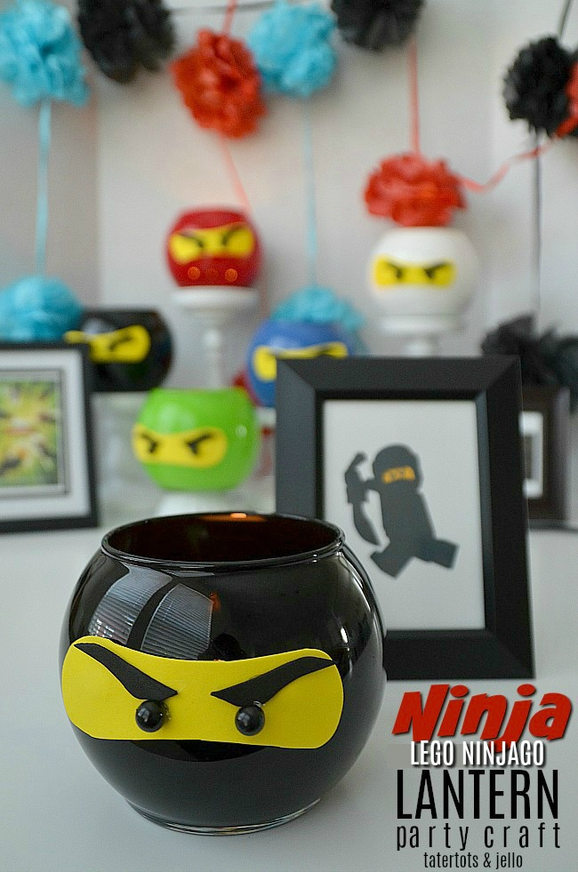 Ninja LEGO NINJAGO Movie Dollar Store Lantern Party Craft