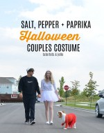 Couples + Dog Halloween Costume Idea – Salt, Pepper + Paprika